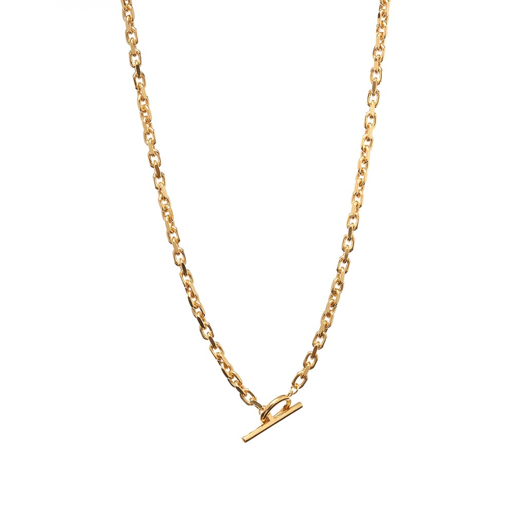 All Blues Anchor Necklace - Gold