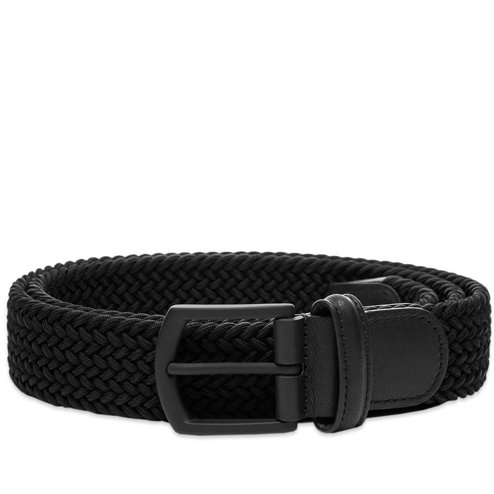 Anderson's Woven Textile Belt - Black & Rubber Buckle