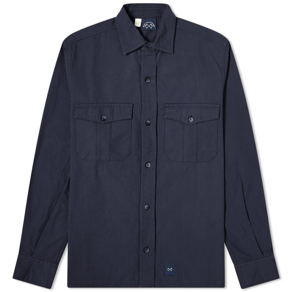 Bleu de Paname 2 Pocket Ripstop Shirt - Navy