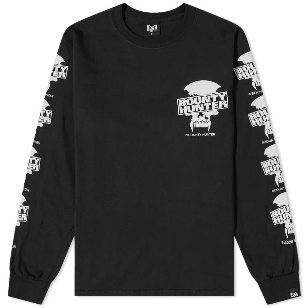 Bounty Hunter Long Sleeve Saber Skull Tee - Black