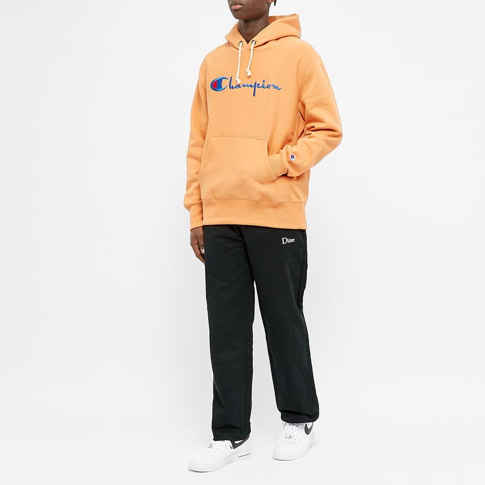 Champion Reverse Weave Script Logo Hoody - Caramel Orange