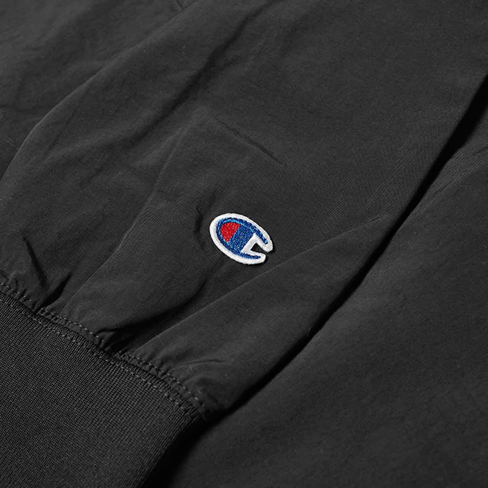 Champion Reverse Weave Small Script Half Zip Track Top - Black