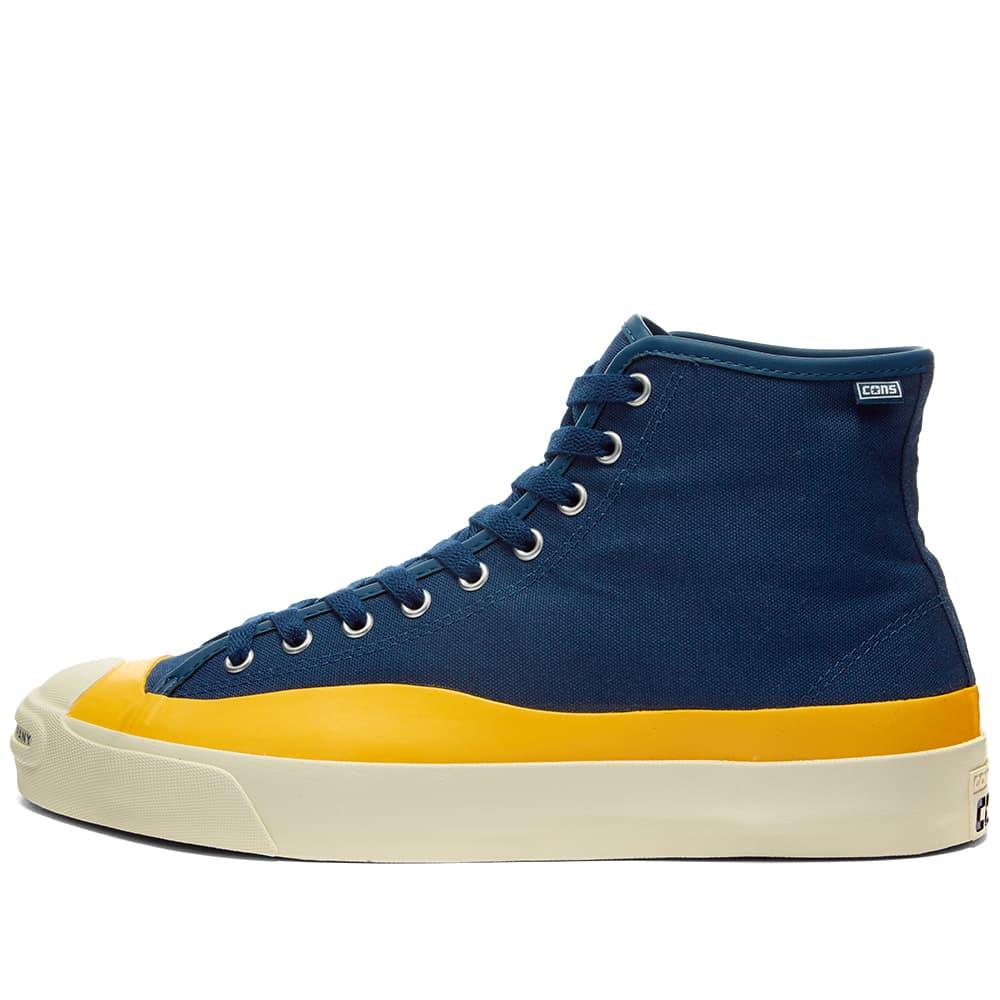 Converse x Pop Trading Company Jack Purcell Pro Hi - Navy & Yellow