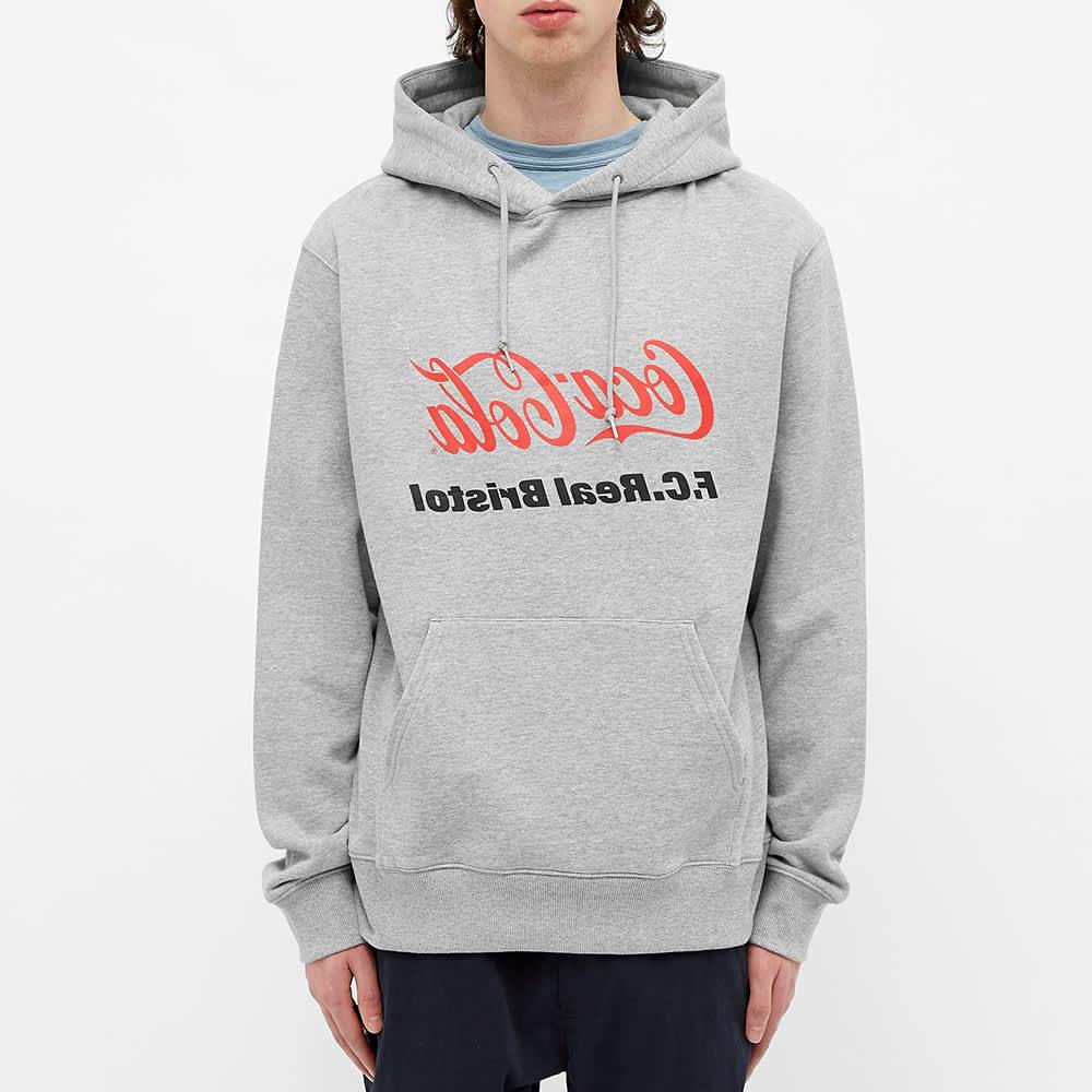 F.C. Real Bristol x Coca-Cola Mirror Logo Hoody - Grey