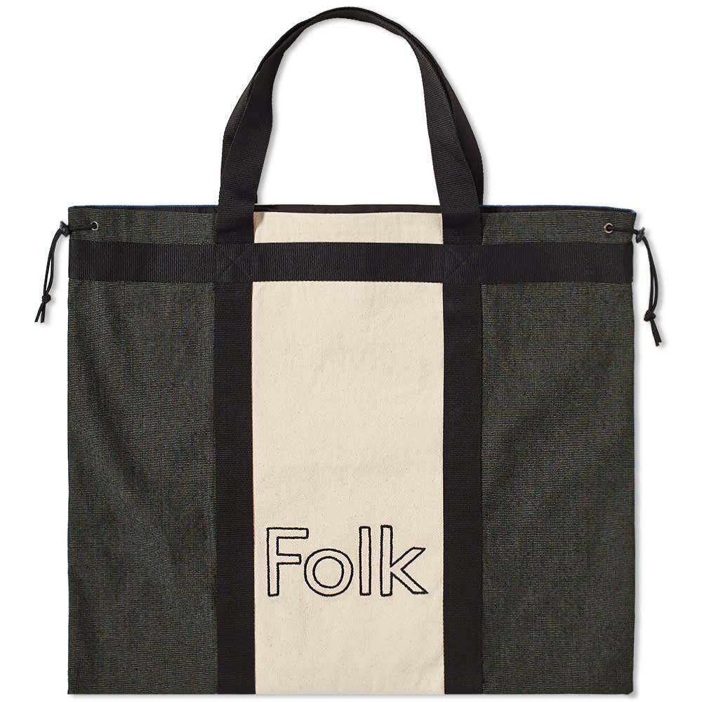 Folk Logo Tote - Denim Multi