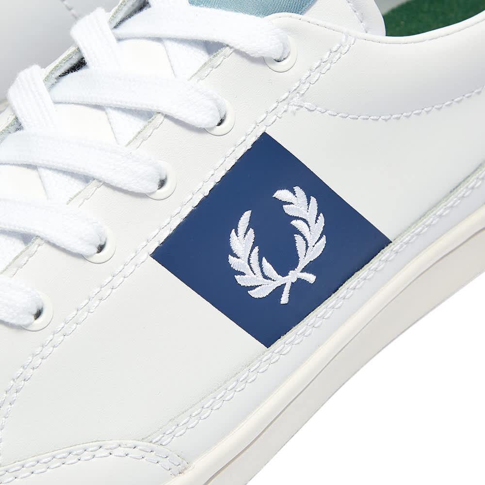Fred Perry Deuce Leather Sneaker - White & White