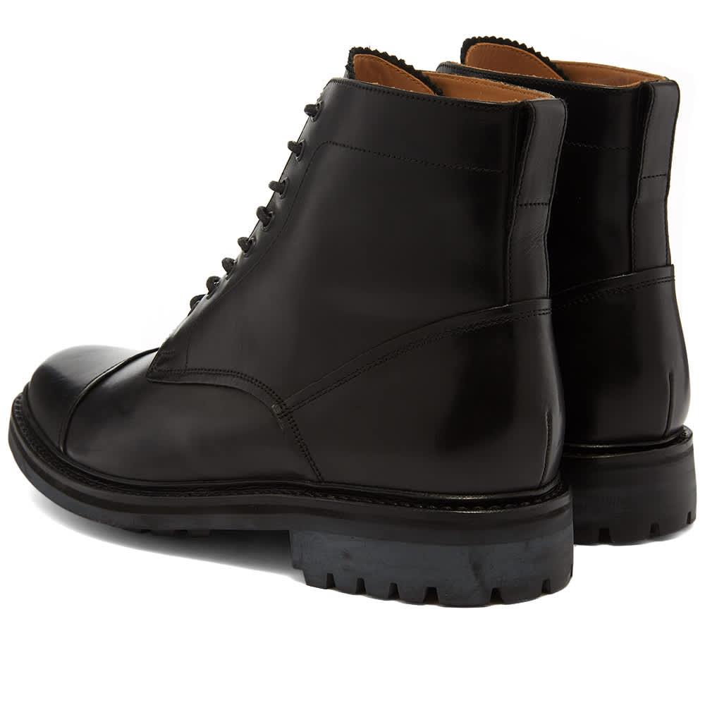 Grenson Joseph Commando Sole Toe Cap Boot - Black Calf