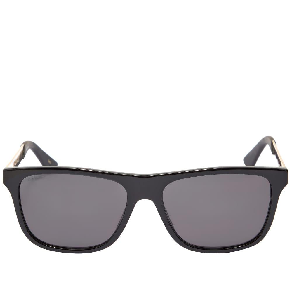 Gucci Sporty Web Sunglasses - Black & Gold