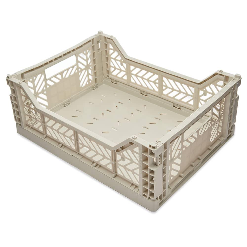HAY Medium Colour Crate - Light Grey