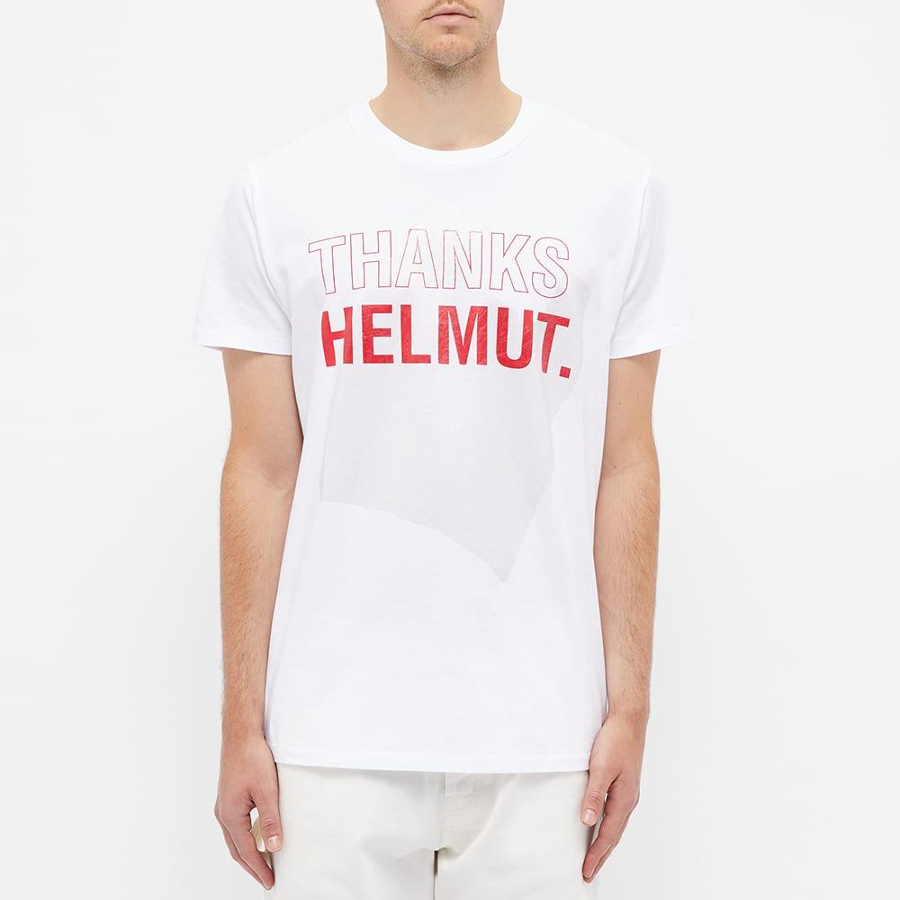 Helmut Lang Logo Thanks Helmut Tee - Chalk White