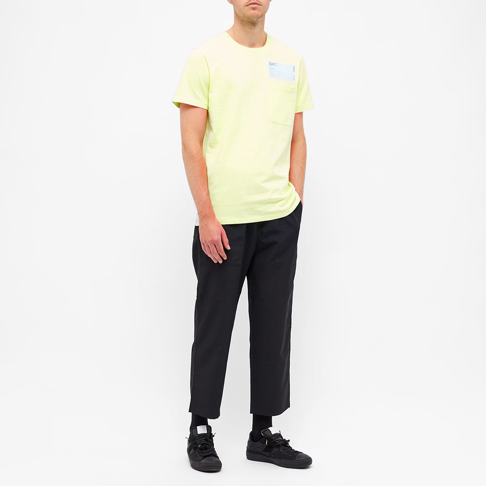 Helmut Lang Patch Logo Pocket Tee - Electric Yellow