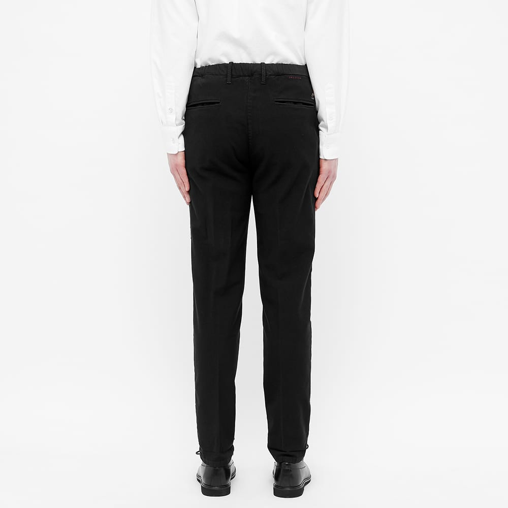 Incotex Tapered Elastic Drawstring Trouser - Black