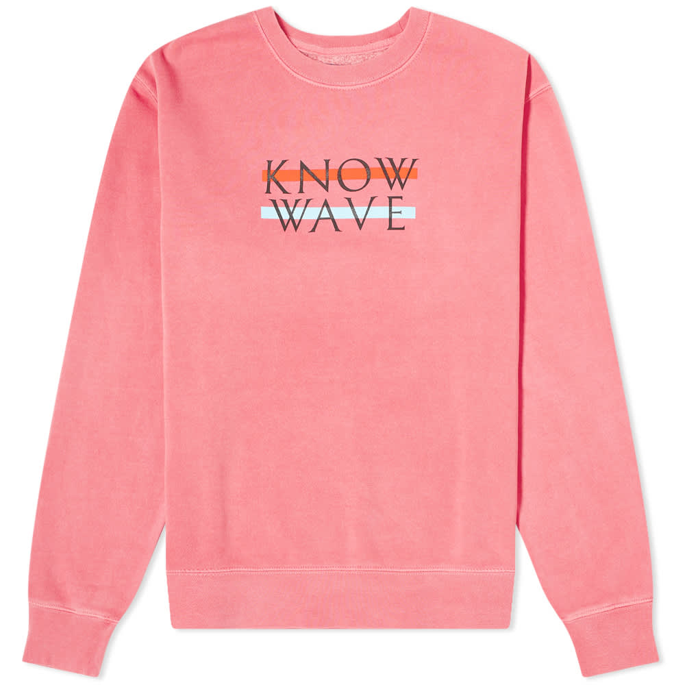 Know Wave Wavelength Crew Sweat - Rose