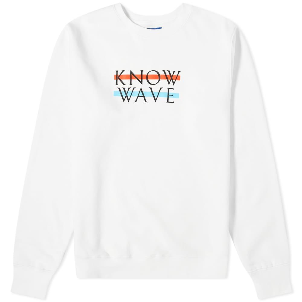 Know Wave Wavelength Crew Sweat - White