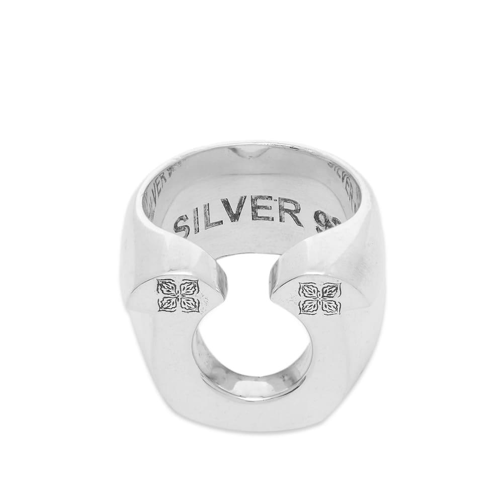 Maple Horseshoe Ring - Silver