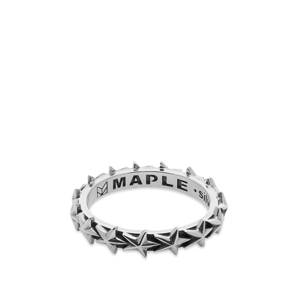 Maple Star Ring - Silver