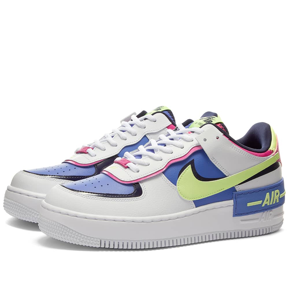 Nike Air Force 1 Shadow W White Barely Volt Sapphire End