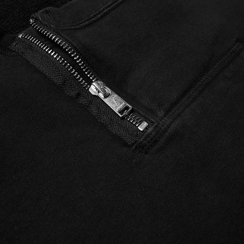 Nonnative Dweller Half Zip Crew Sweat - Black