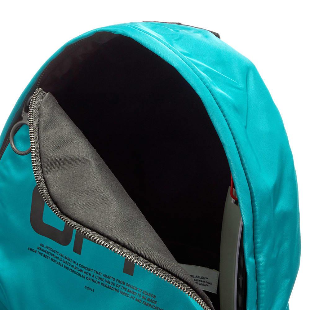 Off-White Off Wavy Logo Backpack - Blue & Black