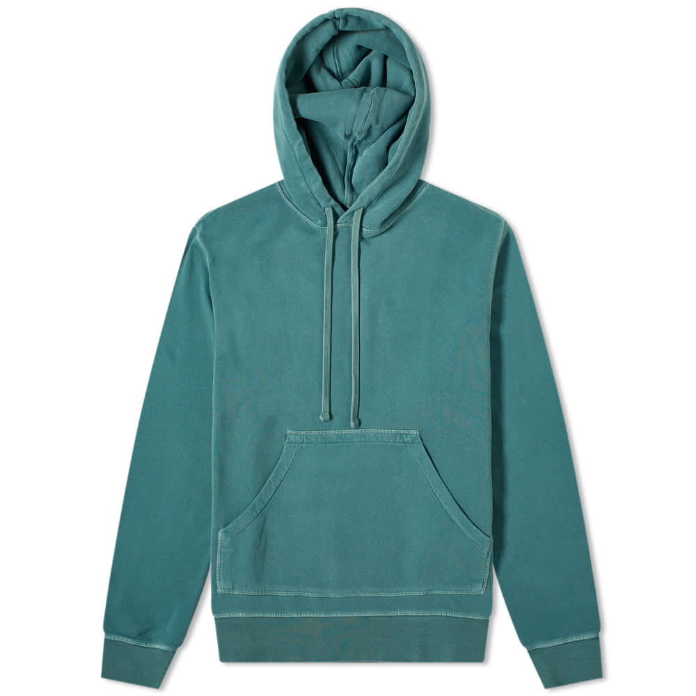 Officine Générale Olivier Garment Dyed Hoody - Sage