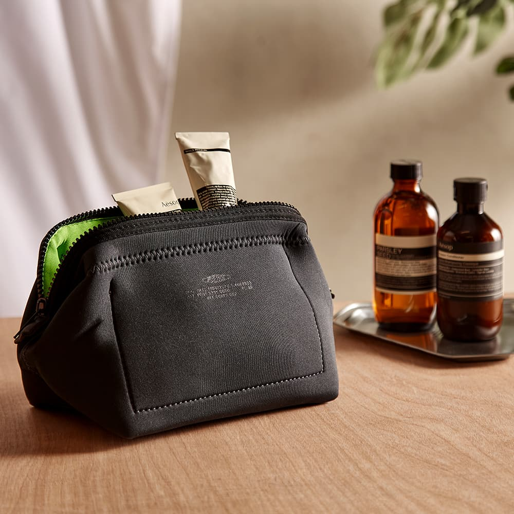 Puebco Small Wired Pouch - Dark Grey & Green