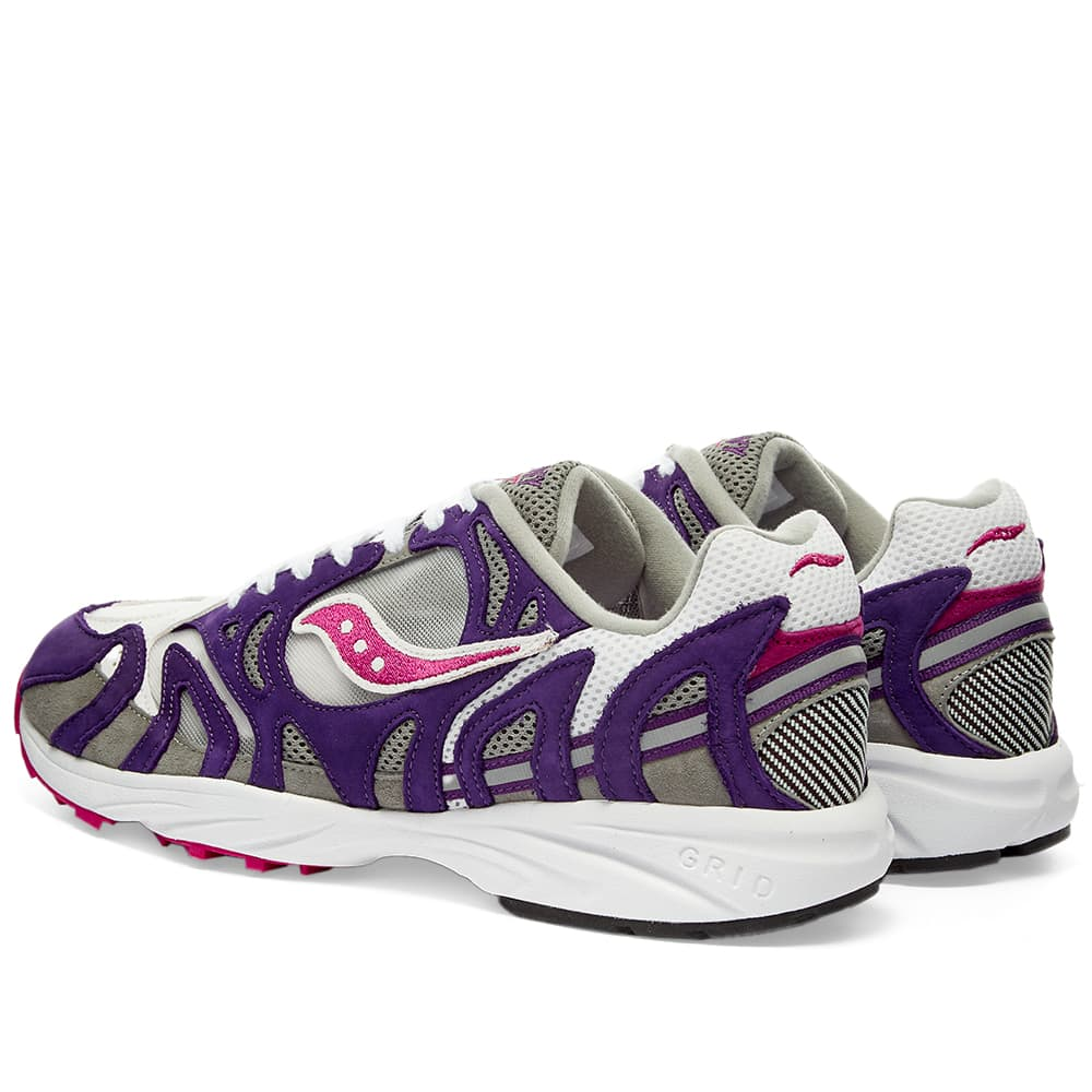 Saucony Grid Azura 2000 - White, Purple & Grey