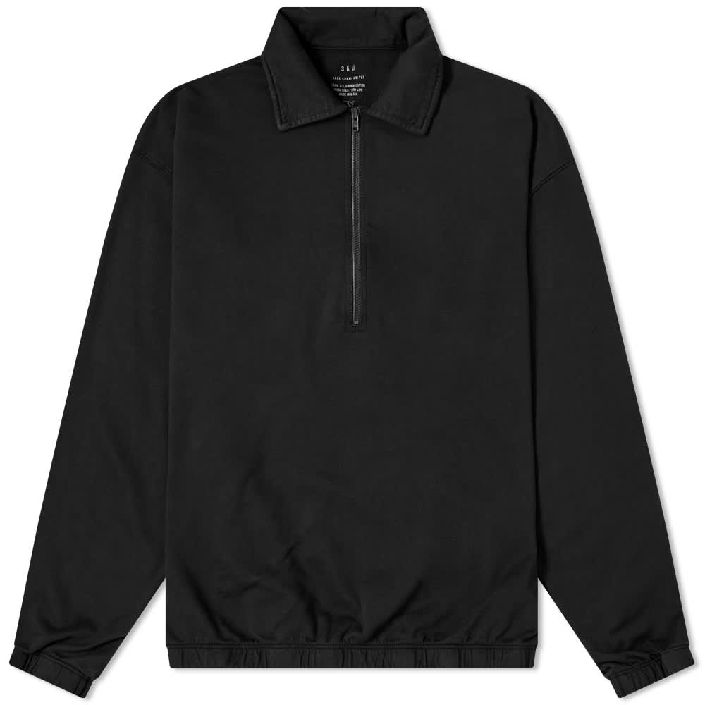 Save Khaki Supima Quarter Zip Sweat - Black