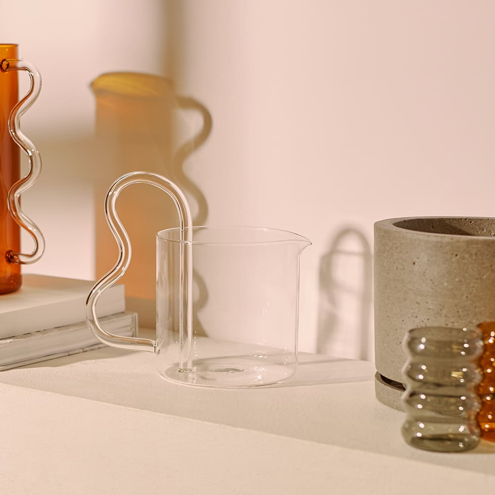 Sophie Lou Jacobsen Bean Pitcher - Clear & Clear