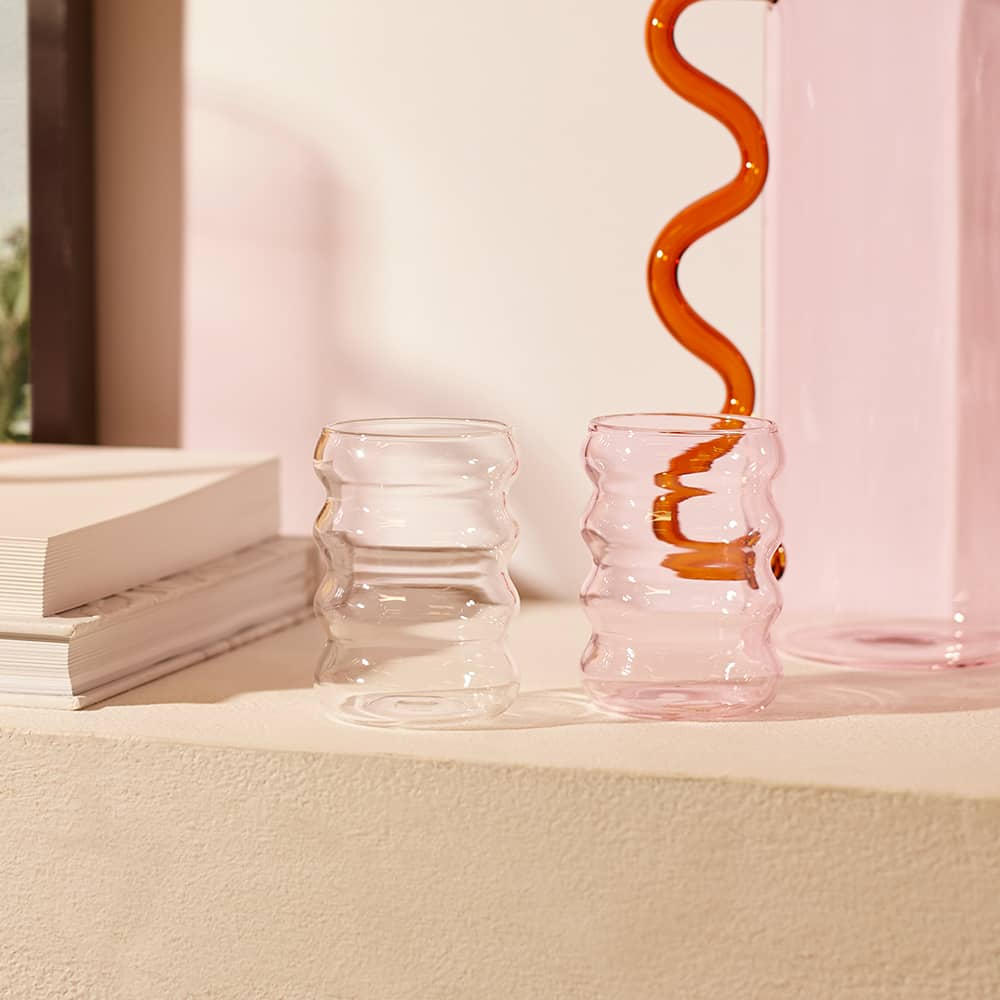 Sophie Lou Jacobsen Ripple Cup - Clear
