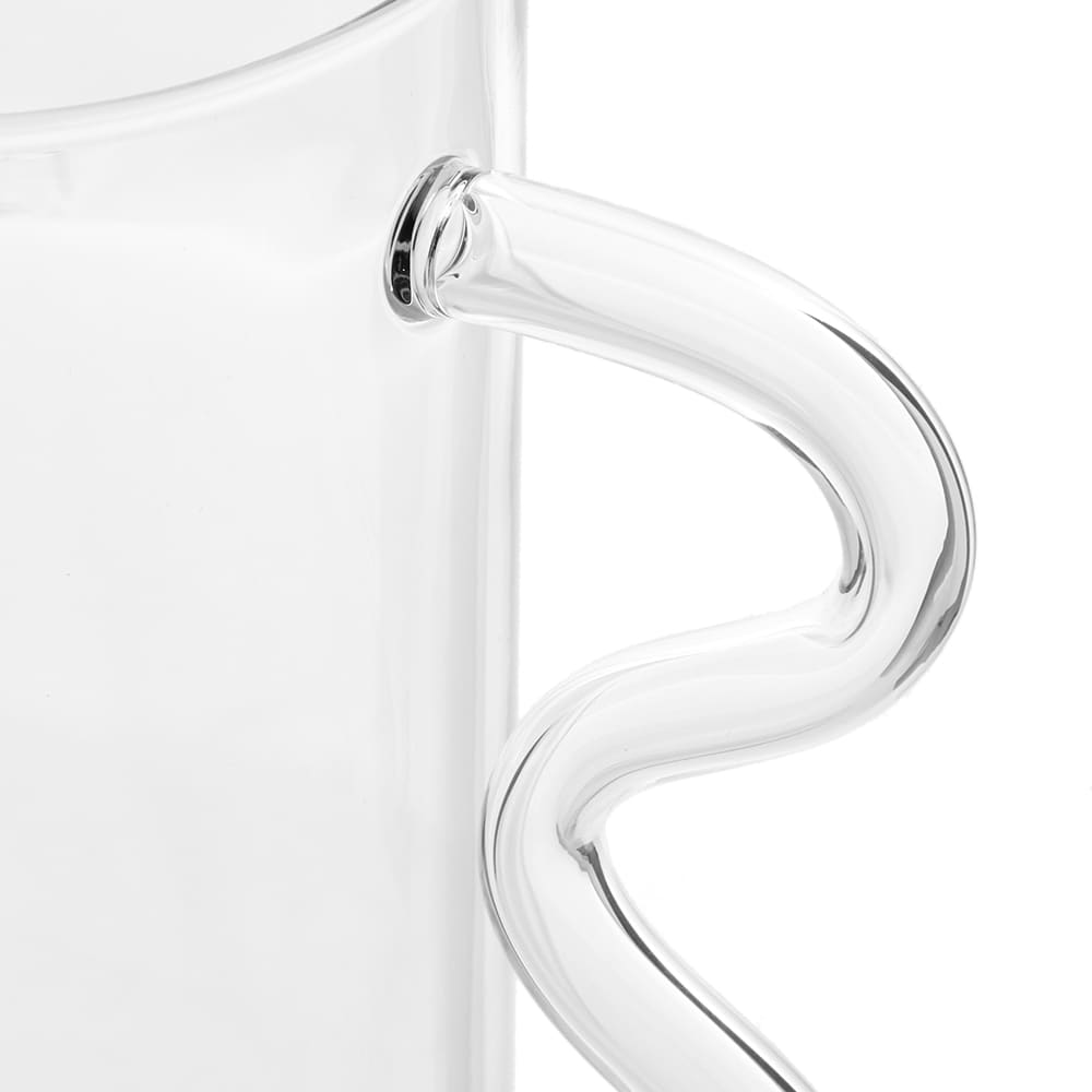 Sophie Lou Jacobsen Wave Pitcher - Clear & Clear