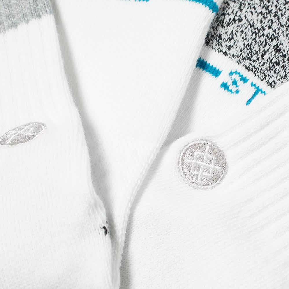 Stance Boyd Sock - White, Grey & Black