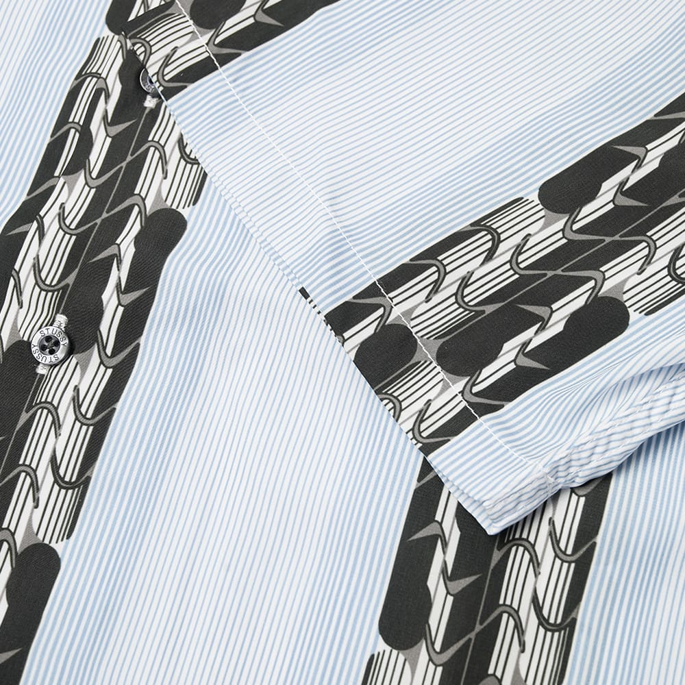 Stussy Deco Striped Shirt - Light Blue