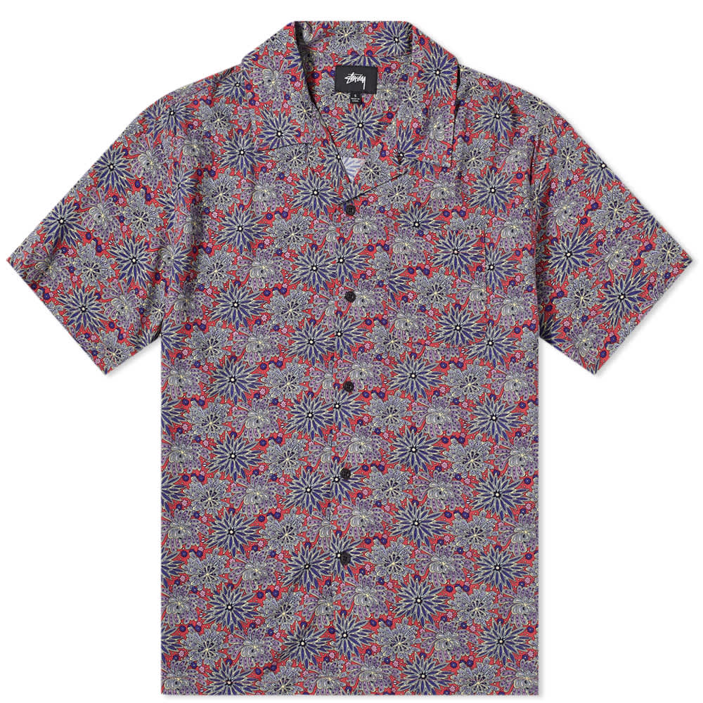 Stussy Floral Print Shirt - Red