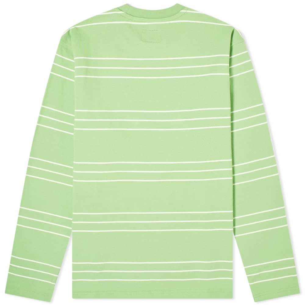 Stussy Long Sleeve Trinity Stripe Tee - Green