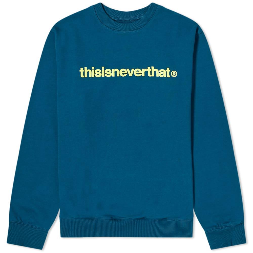 thisisneverthat T-Logo Crew - Dark Blue Green
