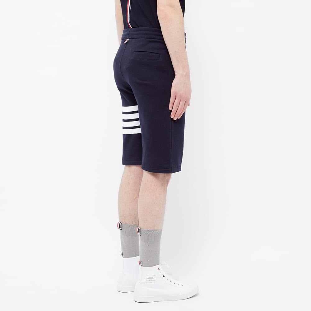 Thom Browne Engineered Stripe Sweat Short - Navy