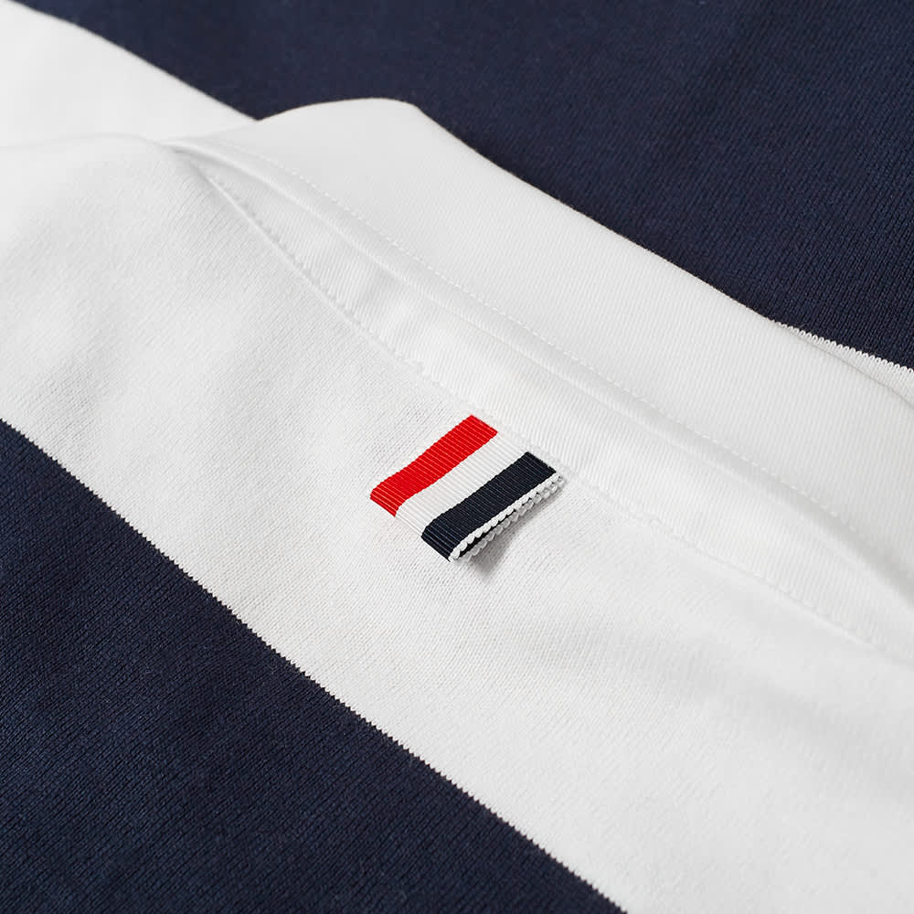 Thom Browne Oversized 4 Bar Rugby Shirt - Navy