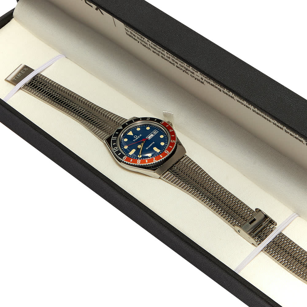 Timex Archive Q Reissue Watch - Steel, Blue & Orange