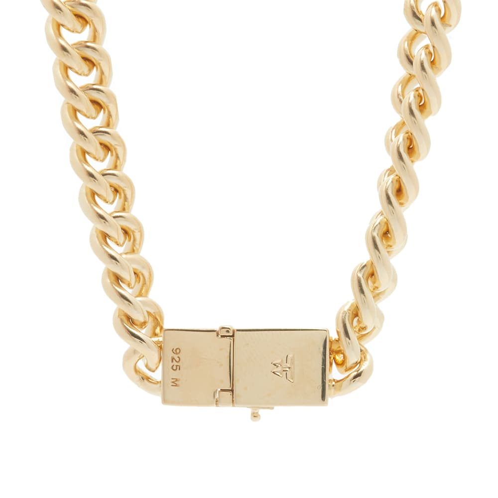 """Tom Wood 20.5"""" Rounded Curb Thick Chain - Sterling Silver & 9k Gold"""