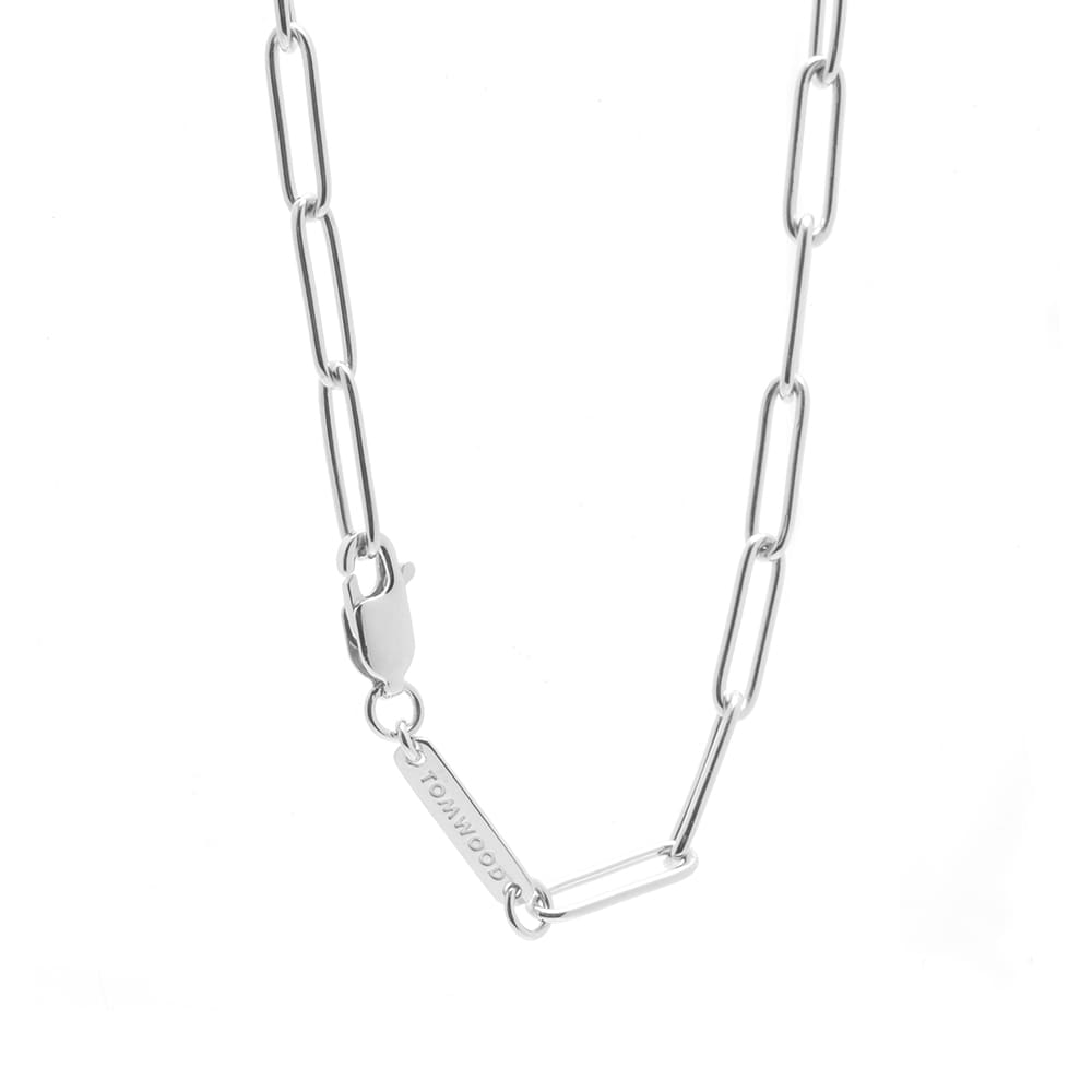 """Tom Wood 24.5"""" Box Chain - Sterling Silver"""