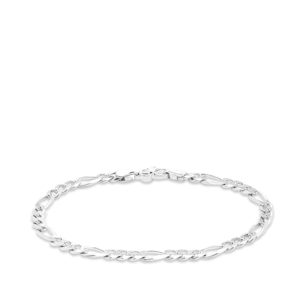 "Tom Wood Figaro Thick Bracelet 7.7"" - Sterling Silver"