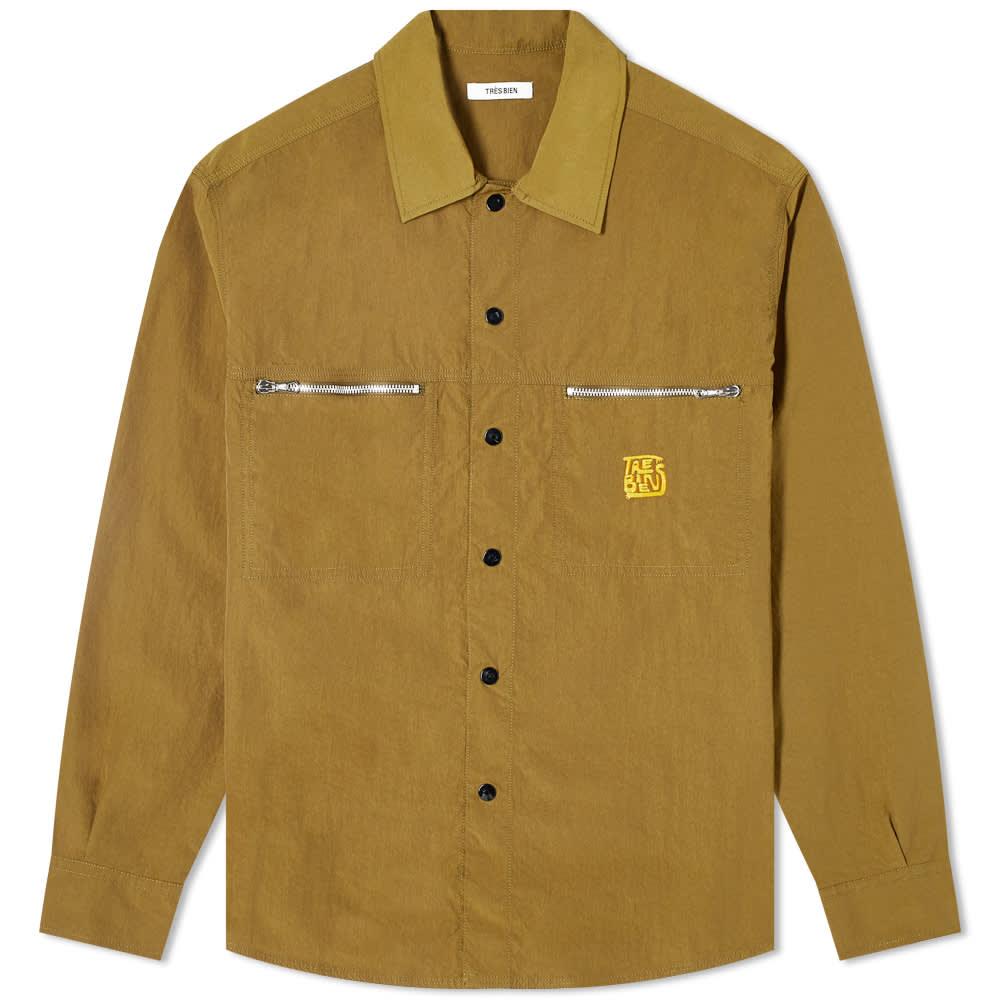 Très Bien Tech Jungle Shirt - Army Green