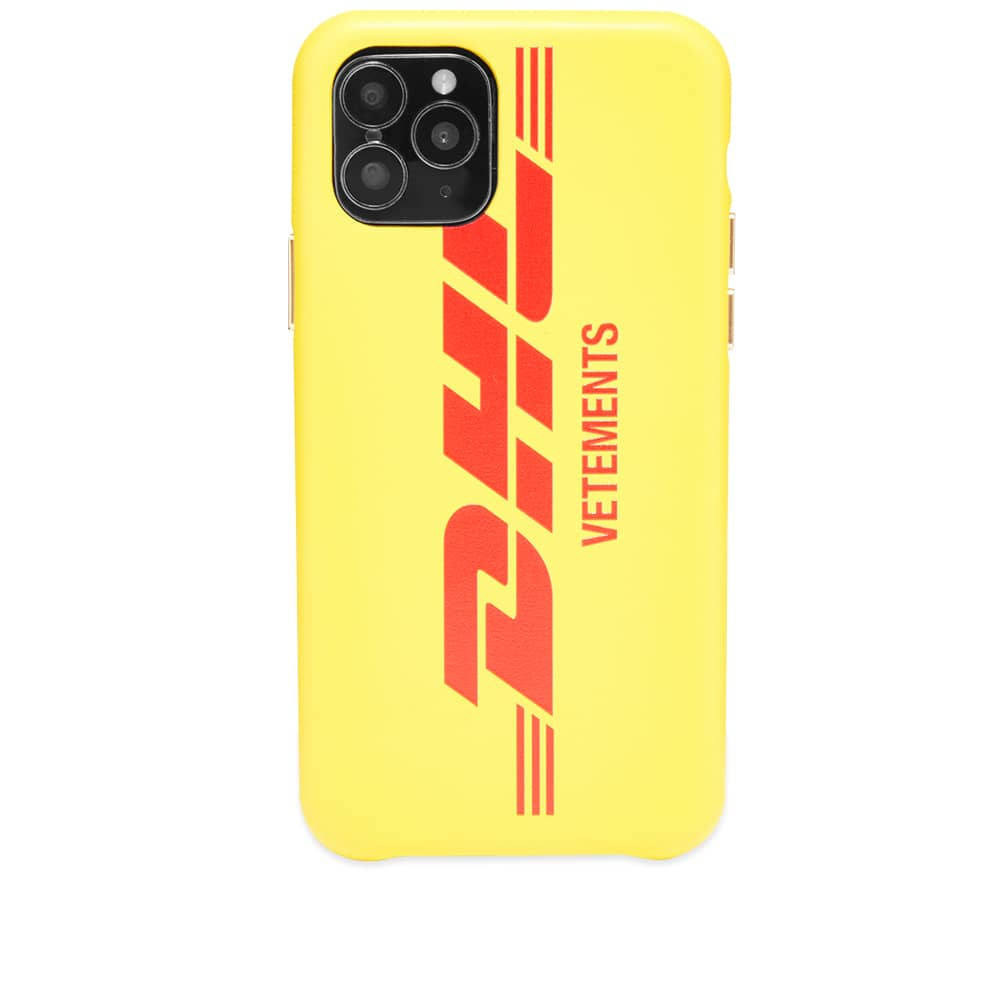 VETEMENTS DHL Logo iPhone 11 Pro Case - Yellow