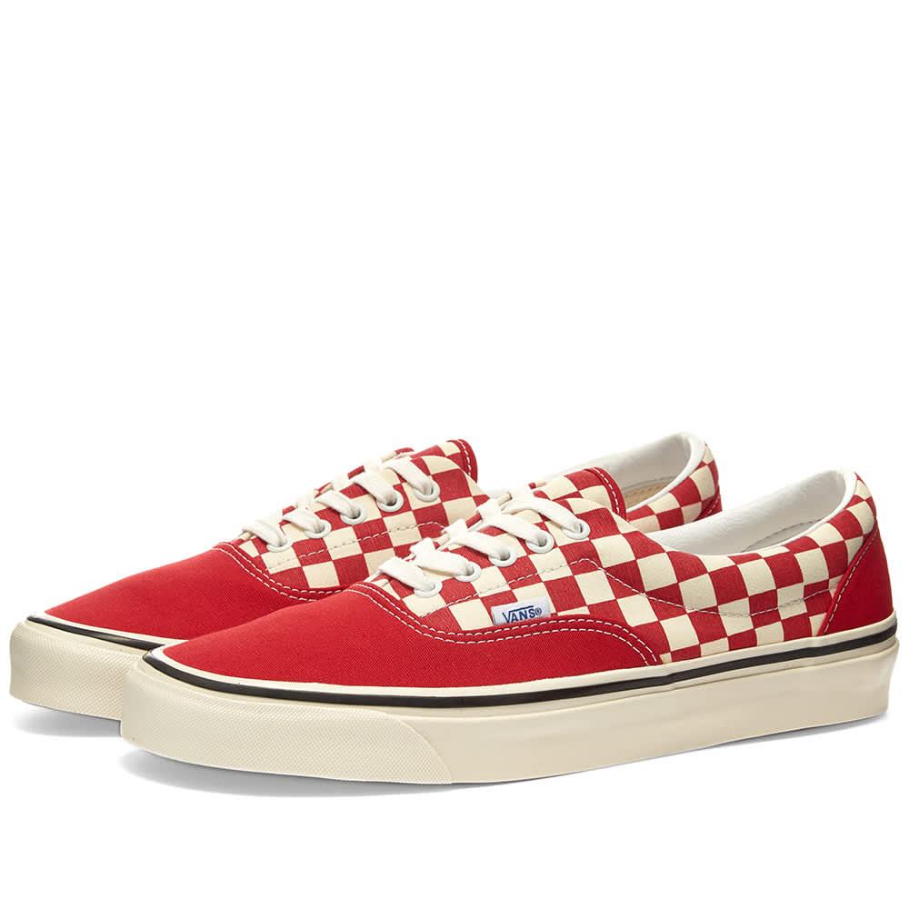 Vans Era 95 DX Red, White \u0026 Check | END.