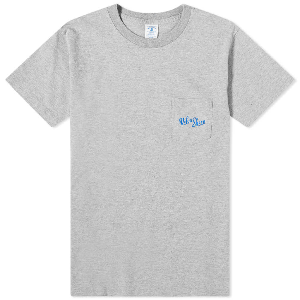 Velva Sheen Logo Pocket Tee - Heather Grey