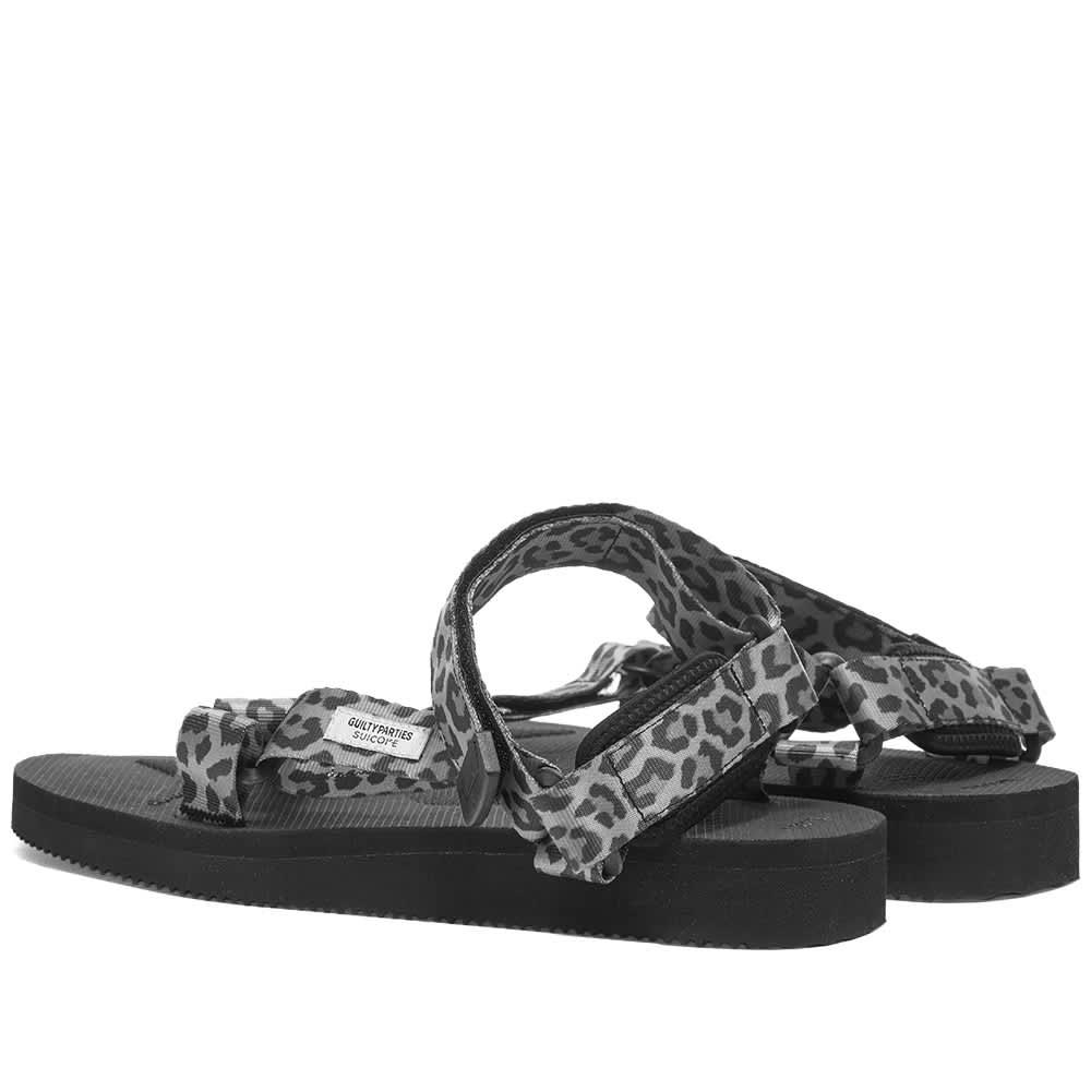 Wacko Maria x Suicoke Leopard Beach Sandal - Grey