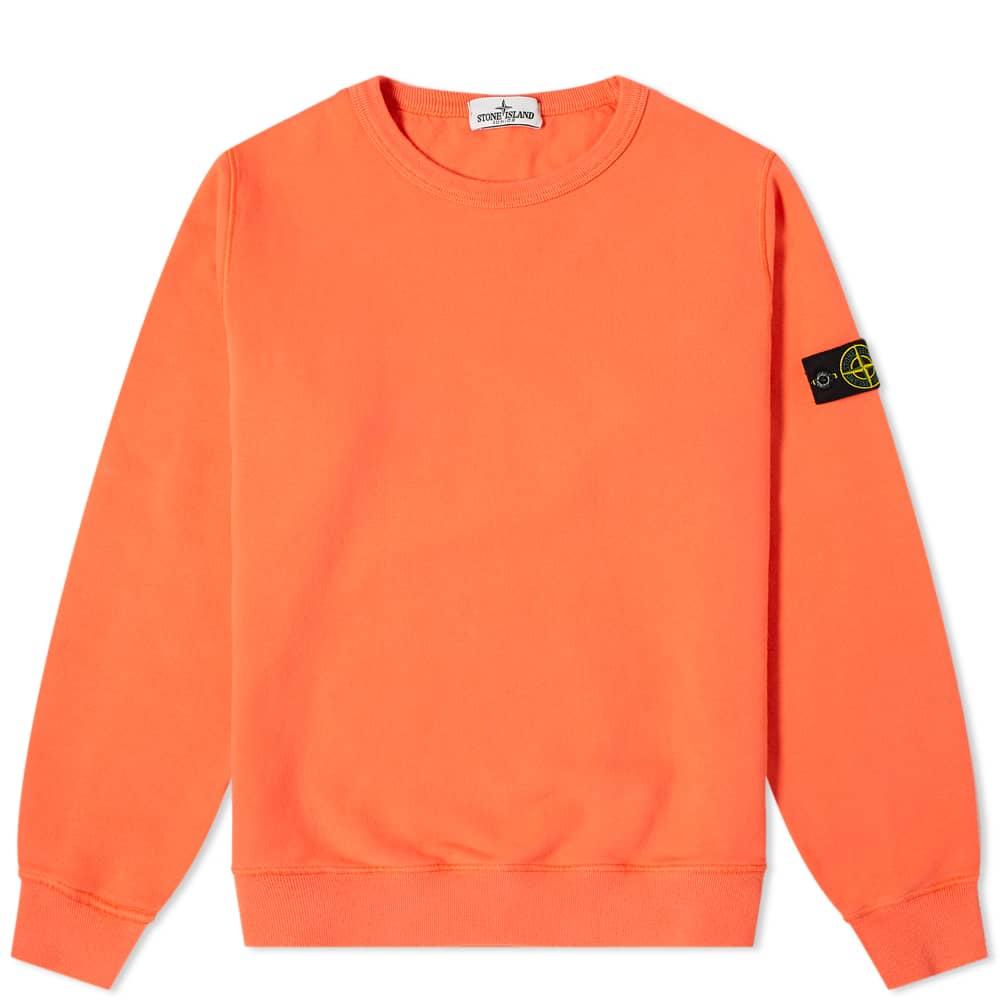 Stone Island Junior Crew Sweat - Orange