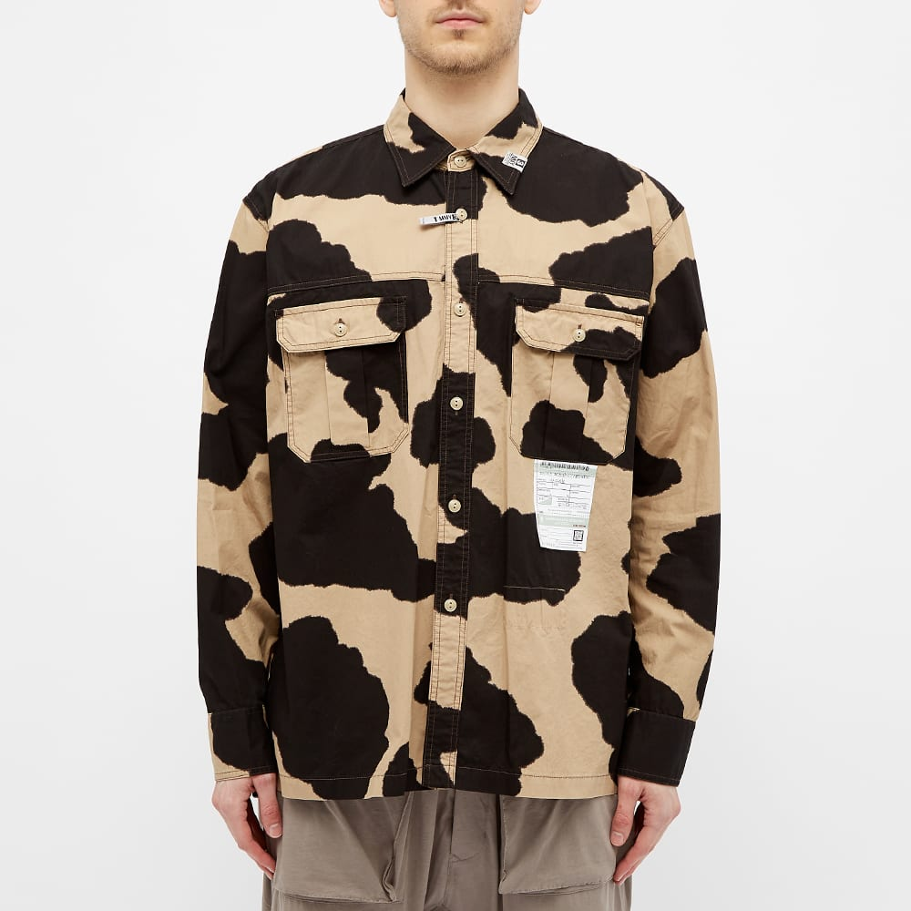 Maison MIHARA YASUHIRO Cow Print Work Shirts - Beige