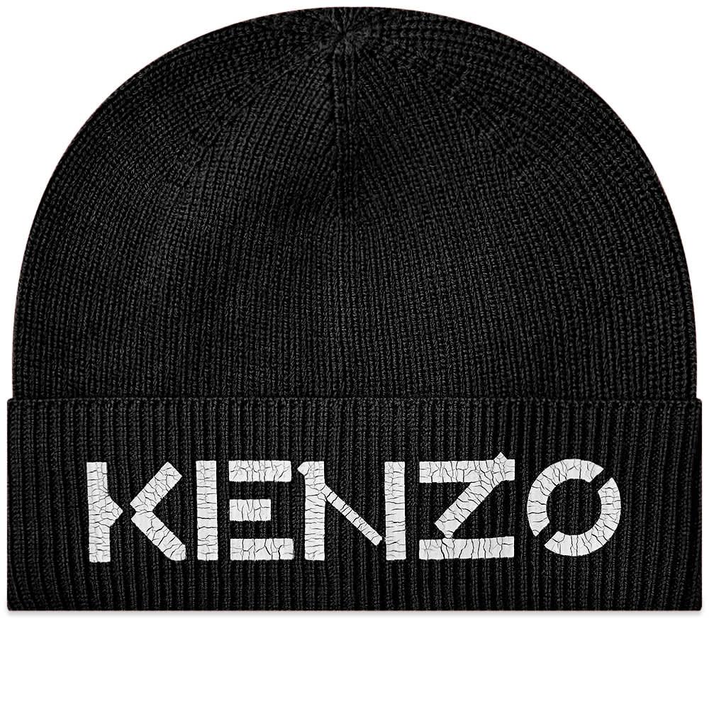 Kenzo Painted Logo Beanie - Black