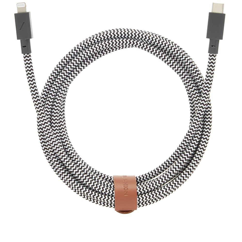 Native Union USB-C Lightning 3m Belt Cable - Zebra